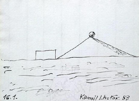 Kamil Lhotak Kresby 1983 1987 Art Gallery Svetlana Lubos